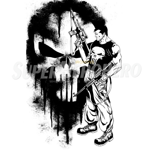 Designs Punisher Iron on Transfers (Wall & Car Stickers) No.5077