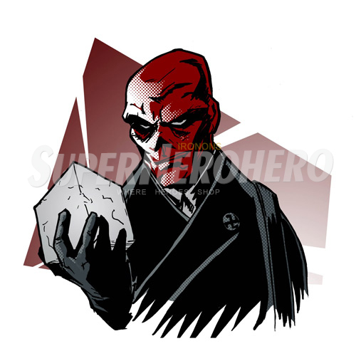 Custom Red Skull Iron on Transfers (Wall & Car Stickers) No.7696