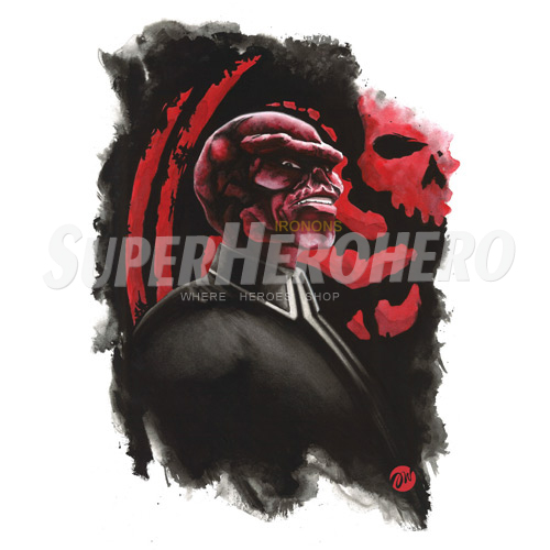 Custom Red Skull Iron on Transfers (Wall & Car Stickers) No.7699