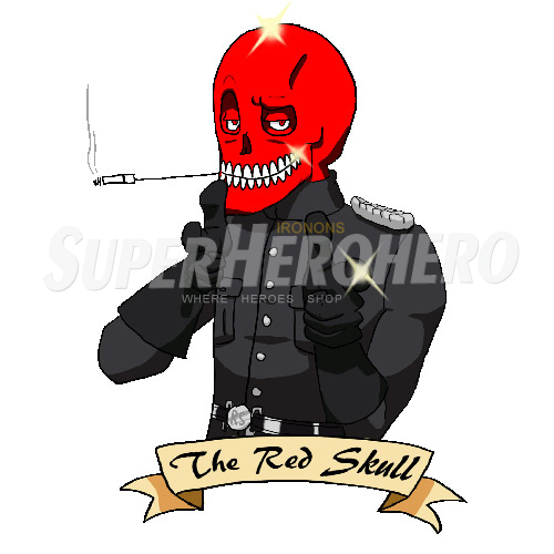 Custom Red Skull Iron on Transfers (Wall & Car Stickers) No.7701