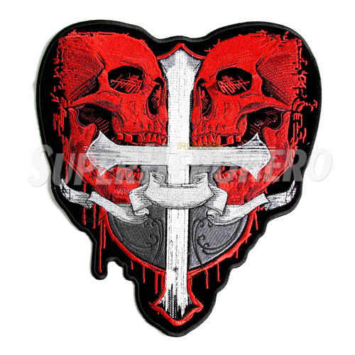 Custom Red Skull Iron on Transfers (Wall & Car Stickers) No.7703