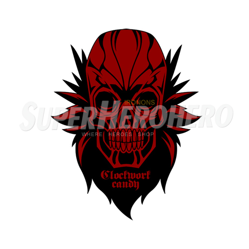 Custom Red Skull Iron on Transfers (Wall & Car Stickers) No.7705