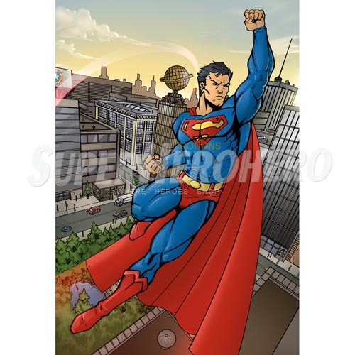 Designs Superman Iron on Transfers (Wall & Car Stickers) No.4657