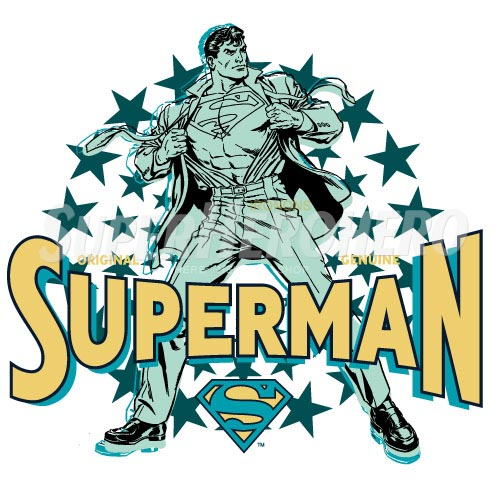 Designs Superman Iron on Transfers (Wall & Car Stickers) No.4671