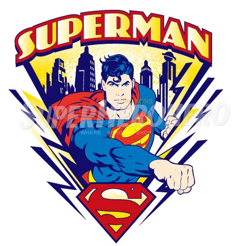 Designs Superman Iron on Transfers (Wall & Car Stickers) No.4675
