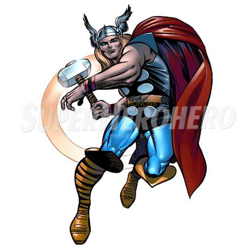 Designs Thor Iron on Transfers (Wall & Car Stickers) No.4682